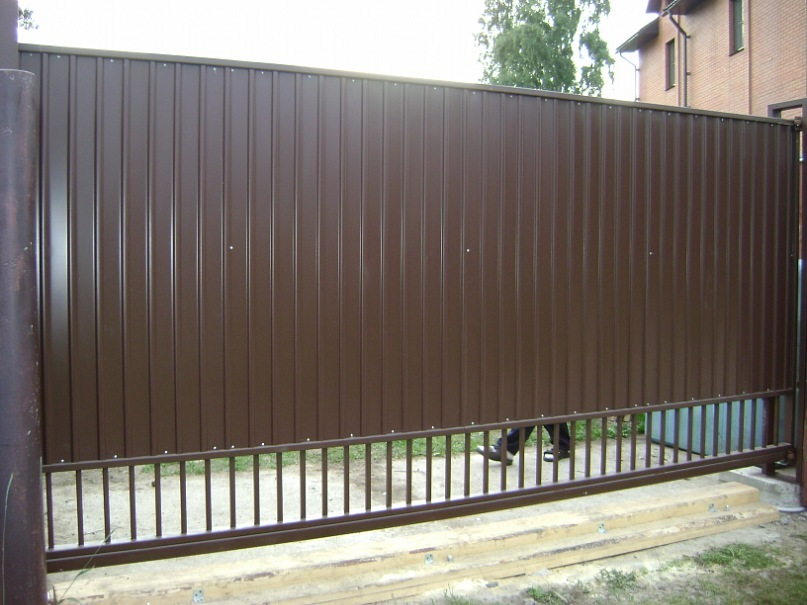 откатные ворота и заборы курск